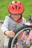Meisje en fiets Royalty-vrije Stock Fotografie