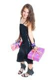 Meisje en Gift Stock Foto