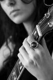 Meisje en gitaar Stock Foto's