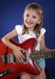 Meisje en gitaar Royalty-vrije Stock Foto