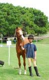 Meisje en haar poney royalty-vrije stock afbeelding