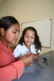 Meisje en Leraar stock afbeeldingen