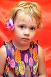 Meisje en orchidee Royalty-vrije Stock Fotografie