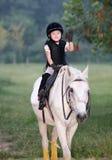 Meisje en paard Royalty-vrije Stock Fotografie