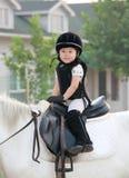 Meisje en paard Stock Foto
