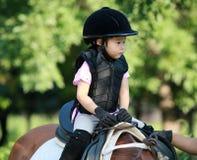 Meisje en paard Royalty-vrije Stock Foto