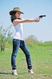 Meisje en pistool Royalty-vrije Stock Foto