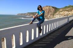 Meisje en Porto Barril Stock Afbeelding