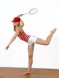 Meisje en racket royalty-vrije stock afbeeldingen