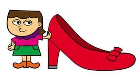 Meisje en schoen Stock Fotografie