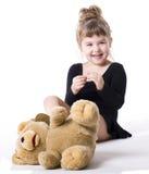 Meisje en Taddy Stock Foto