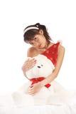Meisje en teddy Royalty-vrije Stock Foto