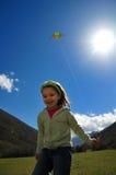 Meisje en vlieger Royalty-vrije Stock Afbeelding