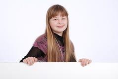 Meisje en witte raad Royalty-vrije Stock Foto