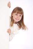 Meisje en witte raad Royalty-vrije Stock Afbeelding