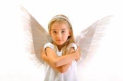Meisje - engel stock foto