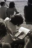 Meisje in Florence stock fotografie