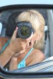 Meisje-fotograaf stock afbeeldingen