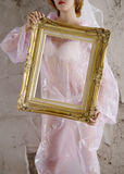 Meisje in frame01 Royalty-vrije Stock Afbeelding