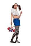 Meisje in gestreepte sokken royalty-vrije stock foto