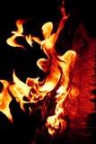 Meisje gevormde brandvlammen royalty-vrije stock afbeeldingen