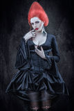 Meisje in Gotische stijl. royalty-vrije stock afbeeldingen