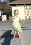 Meisje in groen Stock Foto