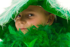 Meisje in groen Royalty-vrije Stock Afbeeldingen