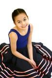 Meisje in haar balletuitrusting Royalty-vrije Stock Foto's