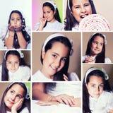 Meisje in haar Eerste Dag van de Heilige Communie Royalty-vrije Stock Fotografie