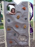 Meisje het beklimmen stock foto