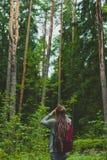 Meisje in het bos Stock Foto