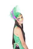 Meisje in het Carnaval masker Stock Foto
