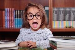 Meisje het gillen Stock Foto