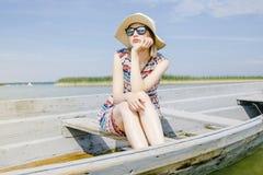 Meisje in het hout Royalty-vrije Stock Fotografie