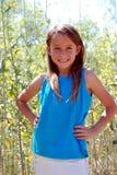 Meisje in het hout Stock Foto's