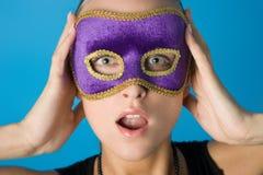 Meisje in het masker Stock Afbeeldingen