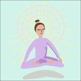 Meisje het mediteren Royalty-vrije Stock Foto