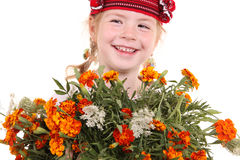 Meisje in het nationale Oekraïense kostuum Stock Foto