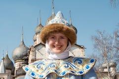 Meisje in het nationale sluiten Royalty-vrije Stock Foto