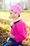 Meisje in het park stock fotografie