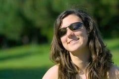 Meisje in het park Stock Foto's