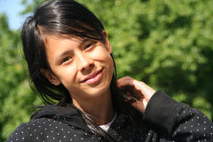 Meisje in het Park Stock Foto