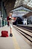 Meisje het reizen royalty-vrije stock afbeelding