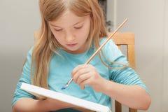 Meisje het schilderen Royalty-vrije Stock Foto