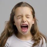 Meisje het schreeuwen stock afbeelding