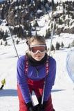 Meisje het ski?en stock afbeeldingen
