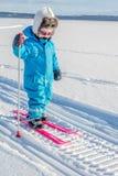 Meisje het ski?en Royalty-vrije Stock Afbeeldingen