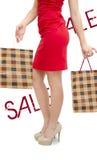 Meisje het Winkelen verkoop royalty-vrije stock afbeelding