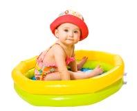 Meisje in het zwembad Royalty-vrije Stock Foto